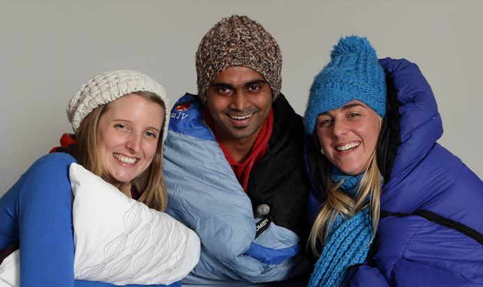 group of people prepared for joining sleepout