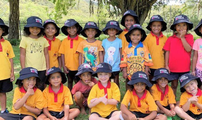 School children looking happy