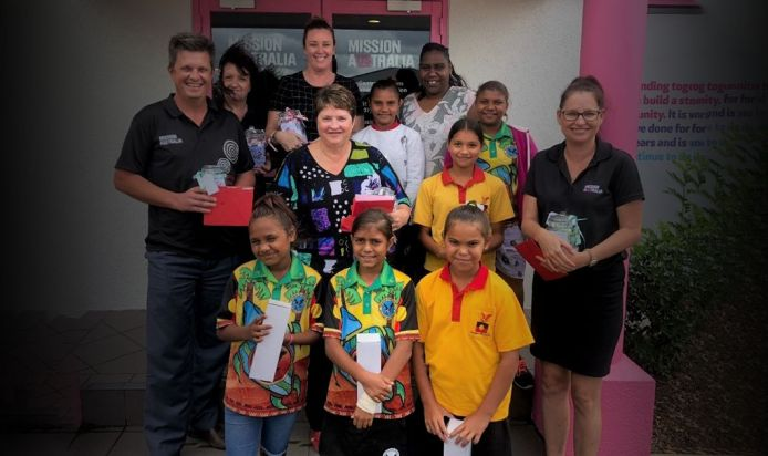 Students at Yarrabah State School