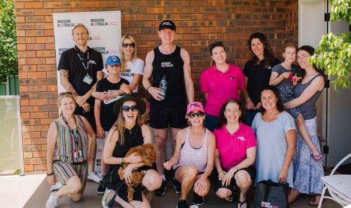 James and Mission Australia team