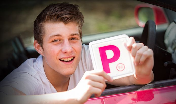 young teenager with his P sign