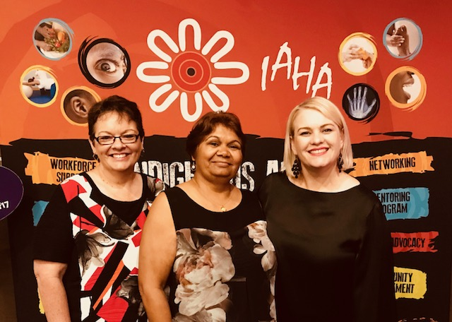 L-R Mission Australia Meekatharra Program Manager Sandra Martin, Patty Councillor and Mission Australia WA State Director Jo Sadler