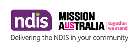 NDIS and Mission Australia lockup logo