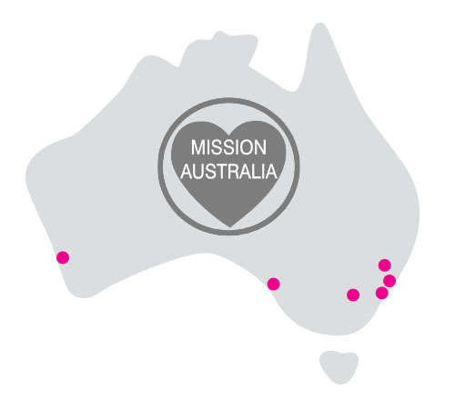 mission australia locations in 1996