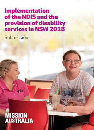 Implementation of the NDIS and the provision of disability services cover