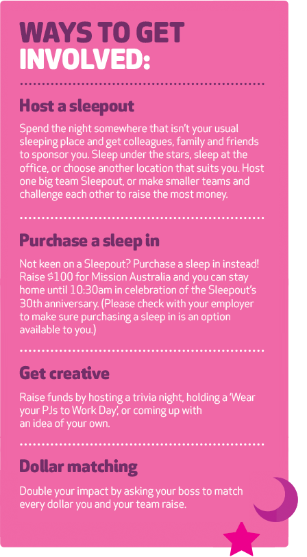sleepout info ways to get involved