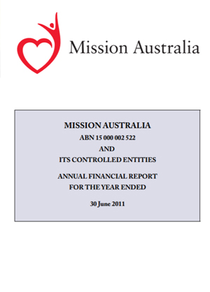 Cover image of Financial Report 2011