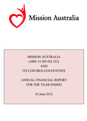 Cover image of Financial Report 2012