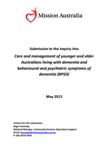 Screenshot of Care and Management of younger and older australians document
