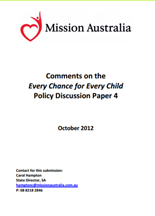Screenshot of Every Chance for Every Child SA Policy document