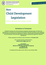 Screenshot of New Child Development Legislation SA document