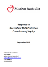Screenshot of Queensland Child Protection Commission of Inquiry document