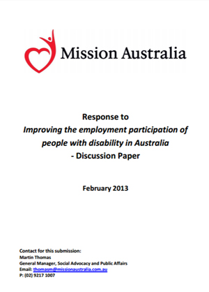 Screenshot of Improving the employment participation of people with disability in Australia document