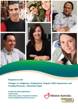 Screenshot of Indigenous Employment Program (IEP) Assessment and Funding Processes document