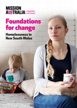 Screenshot of Foundations for Change – Homelessness in NSW document