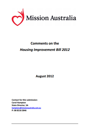 Screenshot of Homelessness Bill 2012 document