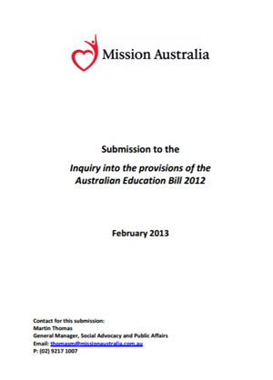 Screenshot of Inquiry into the Provisions of the Australian Education Bill document
