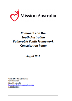 Screenshot of South Australian Vulnerable Youth Framework document