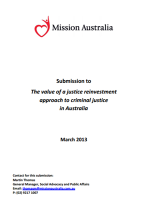 Screenshot of The Value of a Justice Reinvestment Approach to Criminal Justice in Australia document