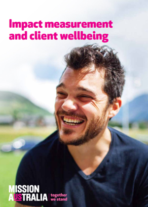 Screenshot of Impact measurement and Client Wellbeing report 2015 document