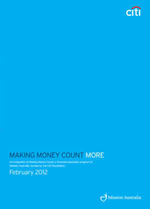 Screenshot of Making Money Count More: An evaluation of Making Money Count document