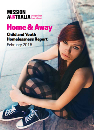 Screenshot of Home and Away: Child and Youth Homelessness Report 2016