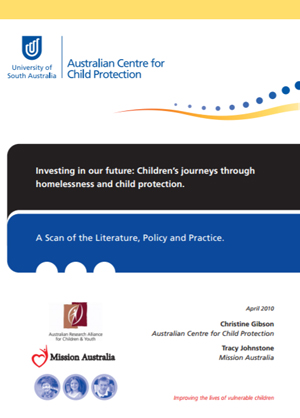 Screenshot of Investing in our future: Children's journeys through homelessness and child protection - April 2010