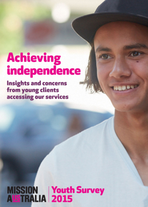Screenshot of Achieving Independence – Mission Australia Youth Client Report document