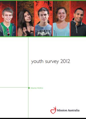 Screenshot of Mission Australia Youth Survey - 2012 document