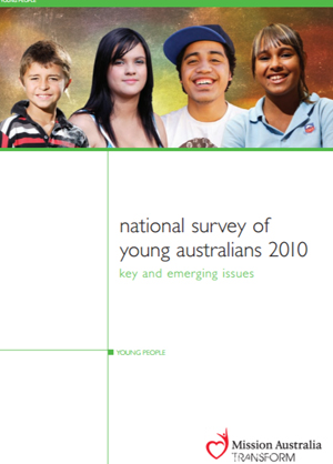 Screenshot of National Survey of Young Australians - 2010