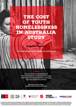 Screenshot of The Cost of Youth Homelessness in Australia