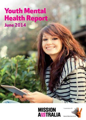 Screenshot of Youth mental health report June 2014
