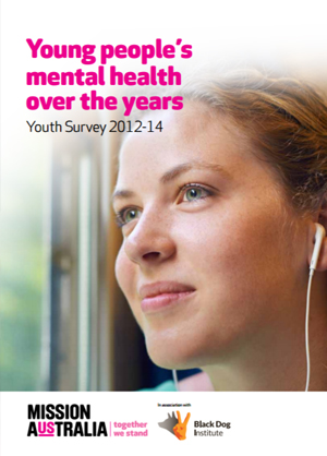Screenshot of Youth Survey Mental Health Report 2015