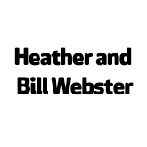 Heather and bill webster logo in black and text